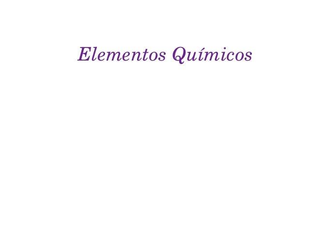 ElementosQuímicos