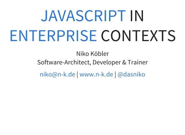 Einsatz von JavaScript im Unternehmenskontext
