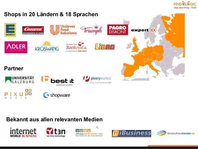 Shops in 20 Ländern & 18 Sprachen Bekannt aus allen relevanten Medien Partner
