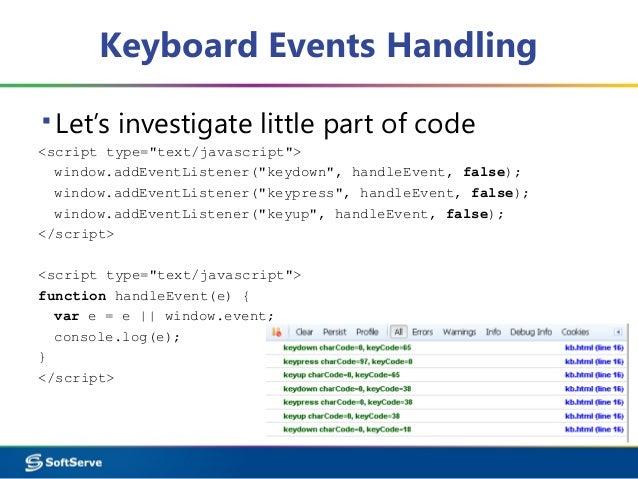 JavaScript: Events Handling