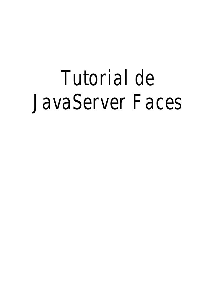 Tutorial deJavaServer Faces