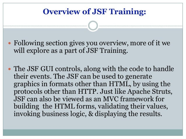 Jsf document   java server faces cource pdf file