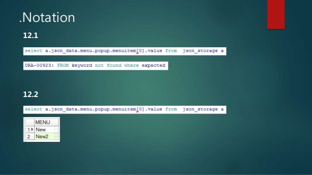 Oracle JSON treatment evolution - from 12 1 to 18 AOUG-2018