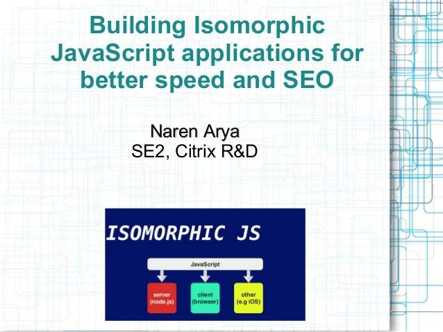 isomorphic javascript future apps
