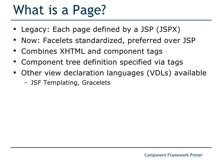 Component Framework Primer for JSF Users