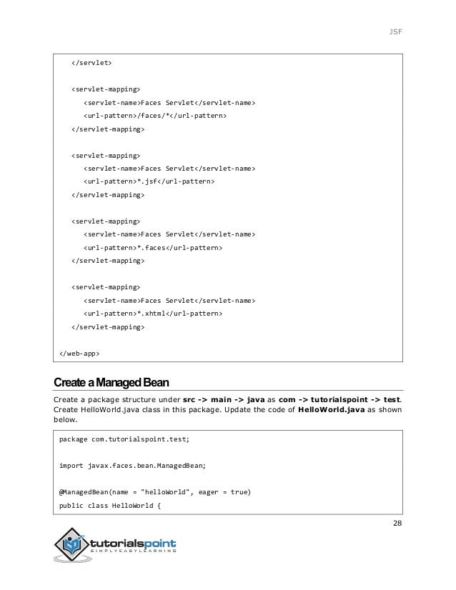 Jsf tutorial