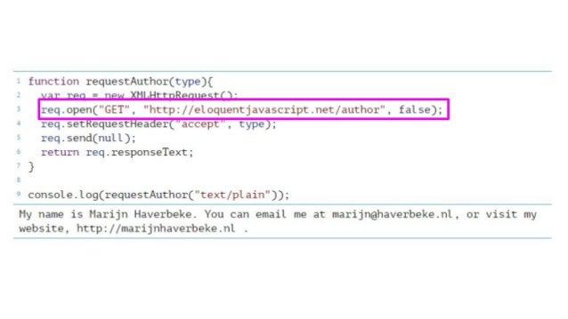 Javascript HTTP Requests