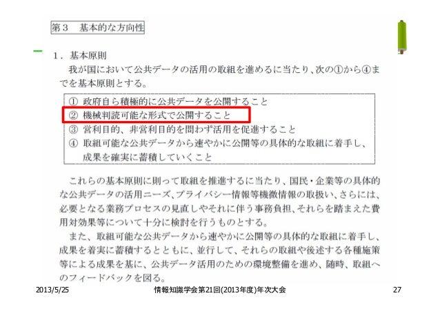 2013/5/25 情報知識学会第21回(2013年度)年次大会 27