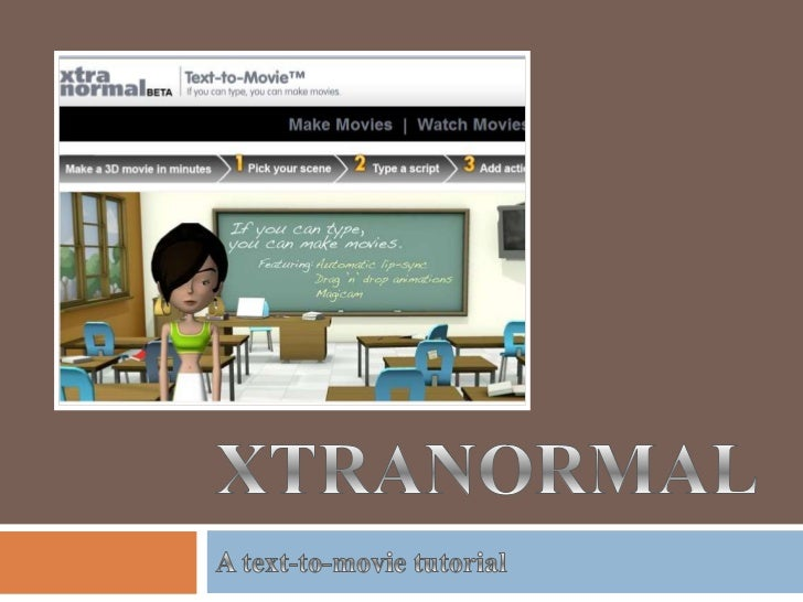 "Xtra-what?   ""If you can type, you can make a movie.""   A revolutionary approach to movie making presentations    that b..."