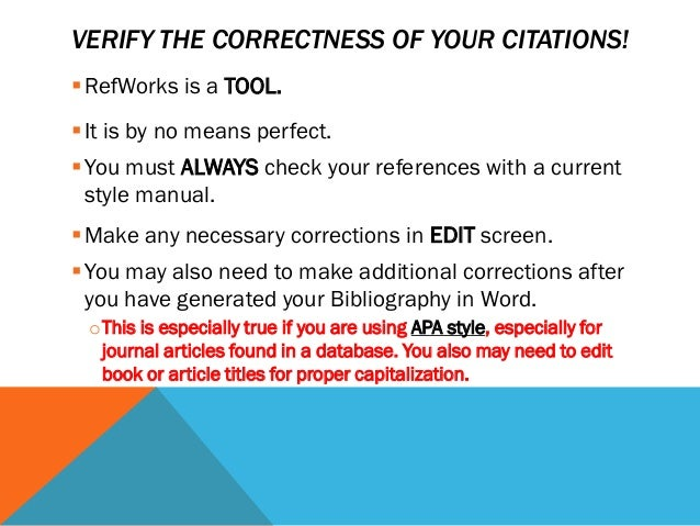 apa style ref This vidcast introduces the viewers to the basics of apa style documentation, focusing on the reference list for more information on this, please see the fo.