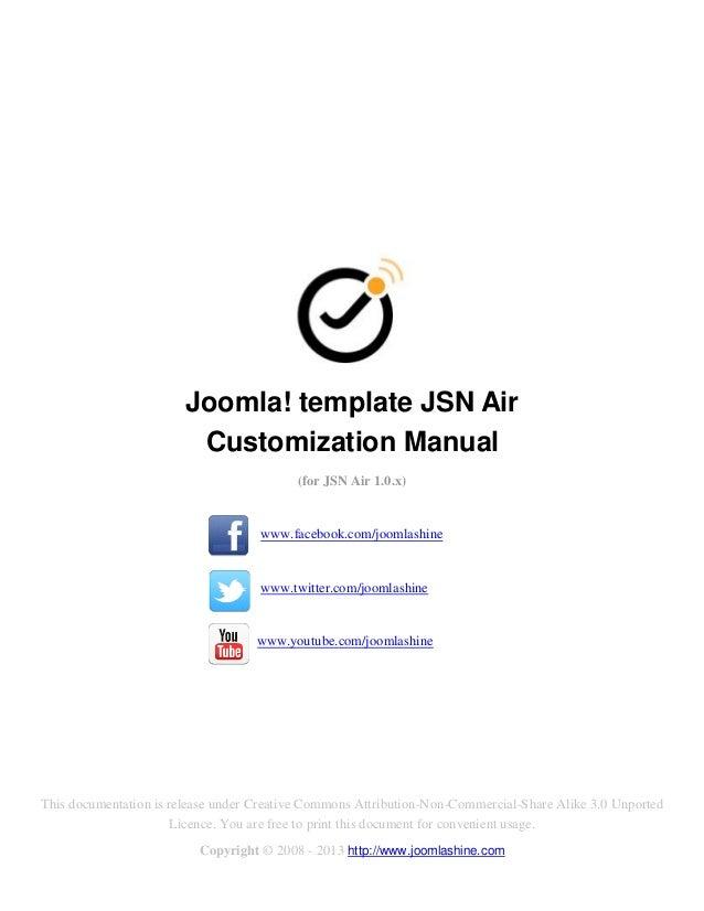 Joomla! template JSN Air                         Customization Manual                                          (for JSN Ai...