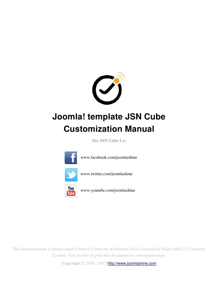 Joomla! template JSN Cube                       Customization Manual                                          (for JSN Cub...