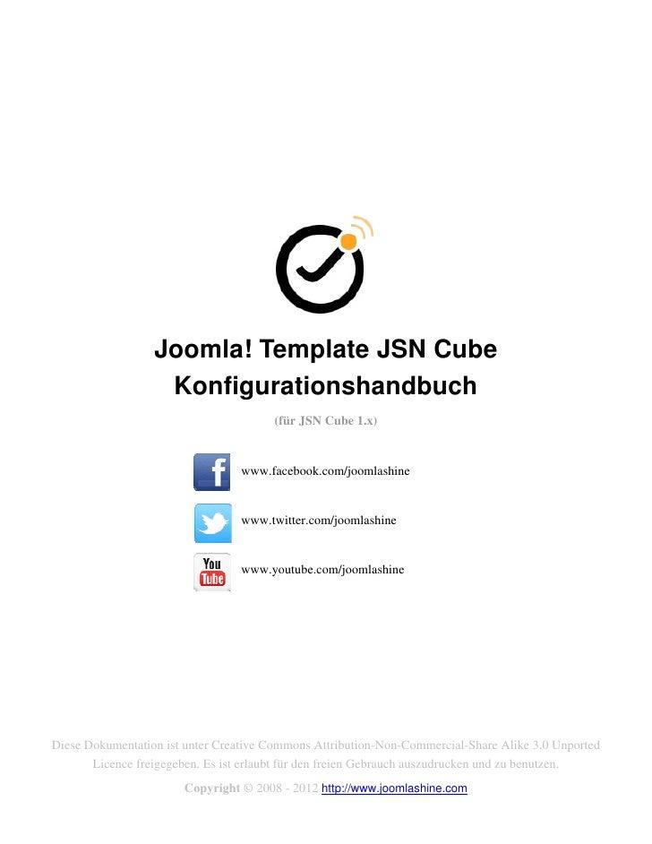Joomla! Template JSN Cube                   Konfigurationshandbuch                                       (für JSN Cube 1.x...