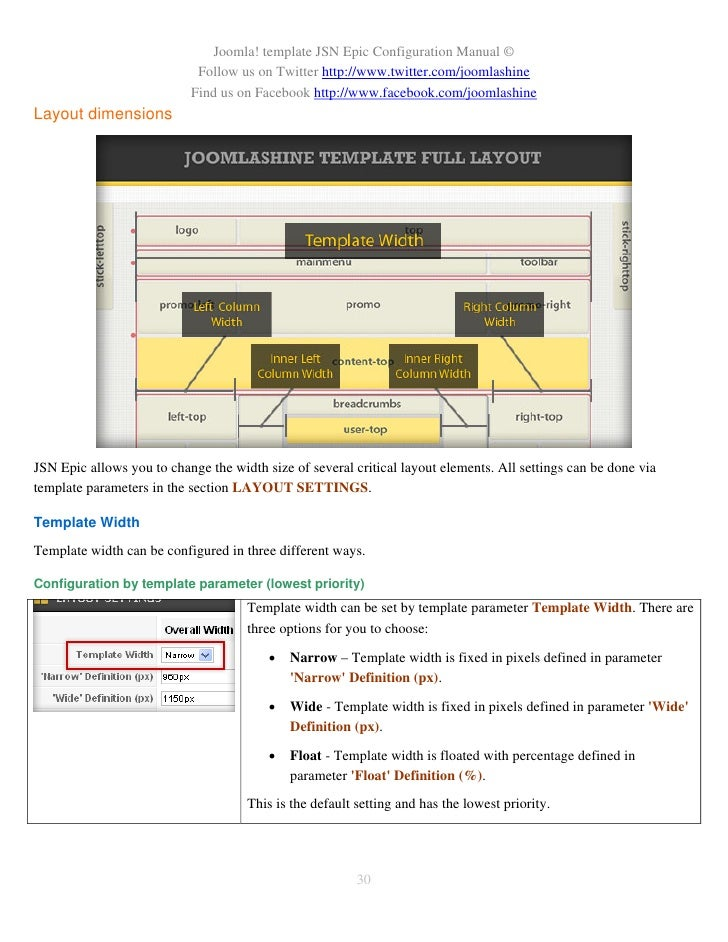 JSN Epic Configuration Manual