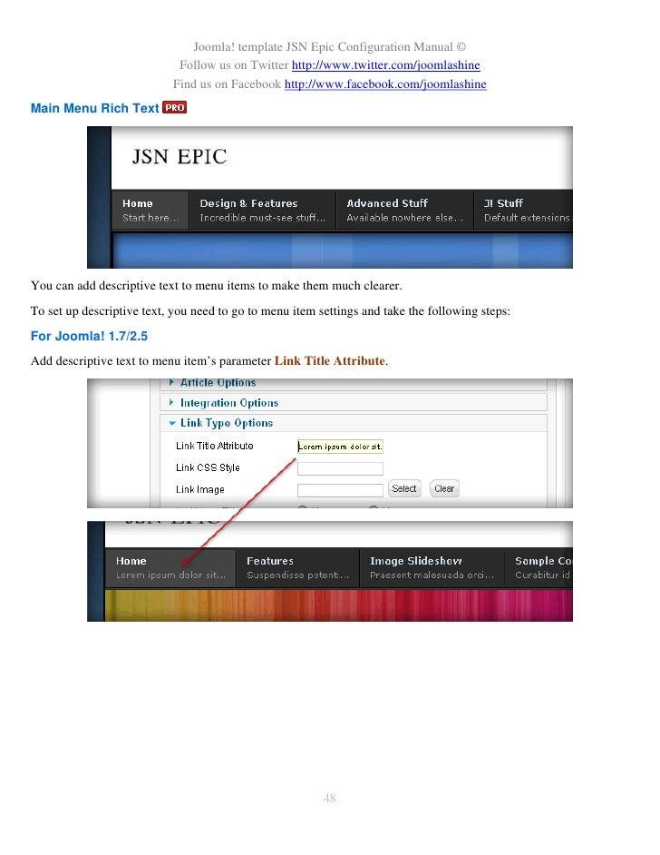 how to add link to jooomla asturias 1.7 slider