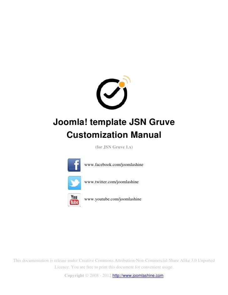 Joomla! template JSN Gruve                       Customization Manual                                          (for JSN Gr...
