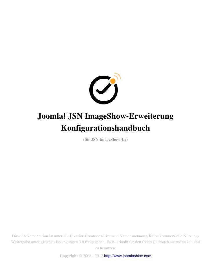 Joomla! JSN ImageShow-Erweiterung                    Konfigurationshandbuch                                          (für ...