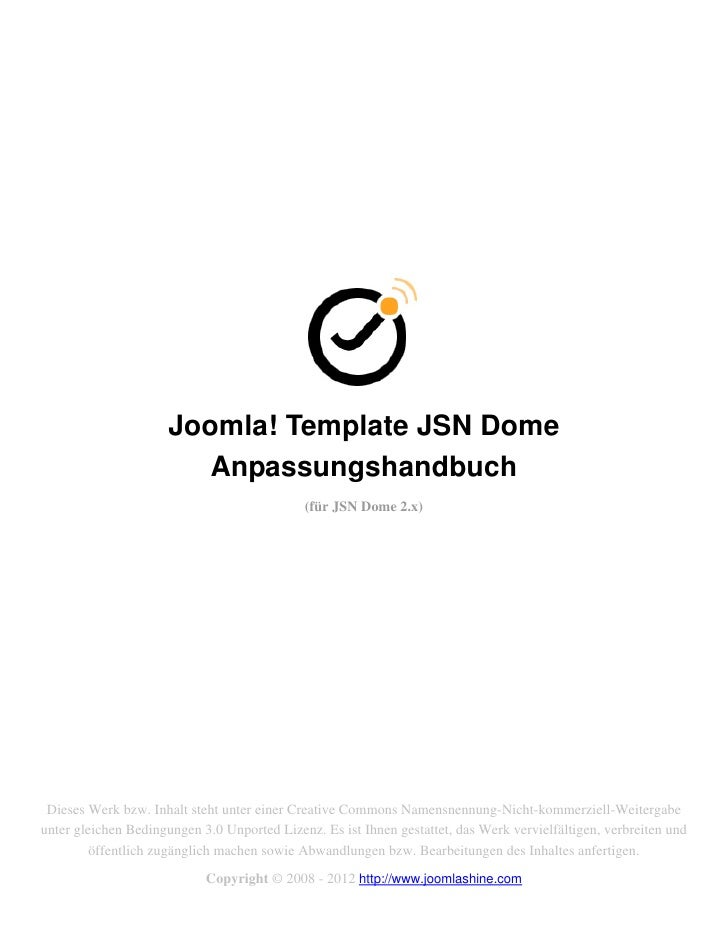 Joomla! Template JSN Dome                         Anpassungshandbuch                                             (für JSN ...