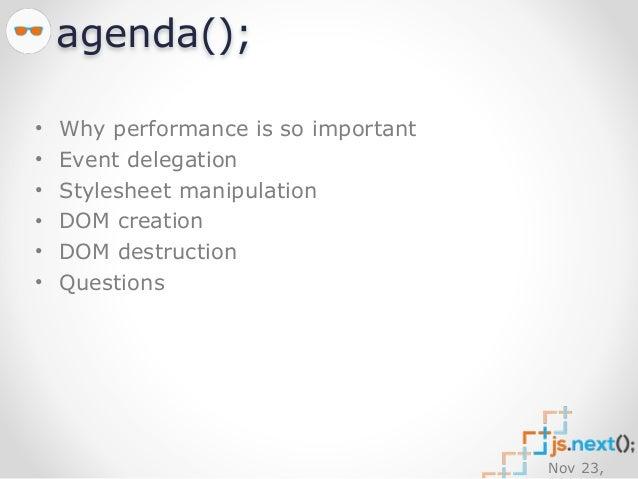 DOM Performance (JSNext Bulgaria) Slide 2