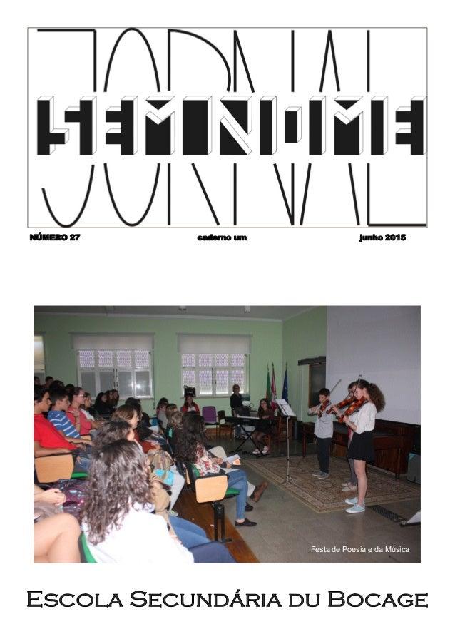 NÚMERO 27 caderno um junho 2015 Festa de Poesia e da Música