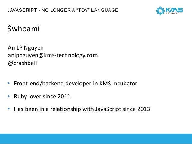 """JavaScript No longer A """"toy"""" Language Slide 3"""
