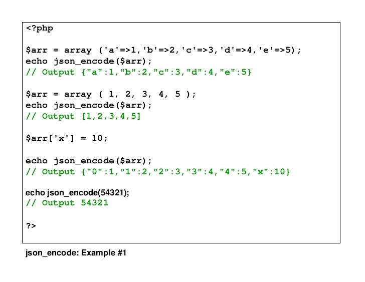 json encode example