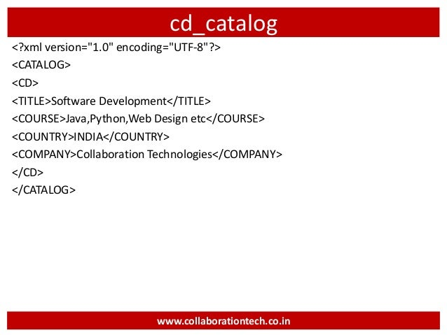 catalog cd titlesoftware developmenttitle coursejavapythonweb design etccourse countryindiacountry companycollaboration