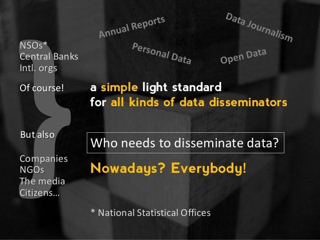 JSON-stat, a simple light standard for all kinds of data disseminators Slide 3