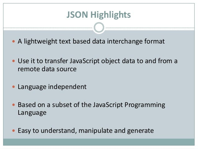 JSON Part 2: Working with Ajax