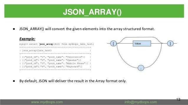 JSON improvements in MySQL 8 0
