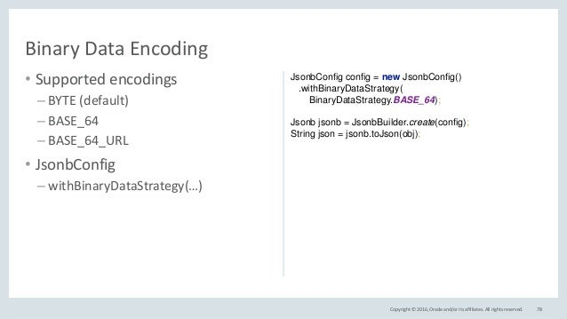 JSON Support in Java EE 8