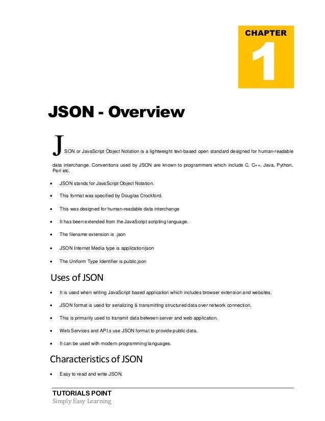 Json tutorial