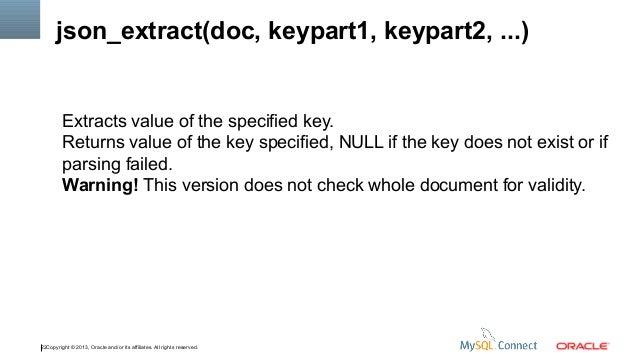 MySQL JSON Functions