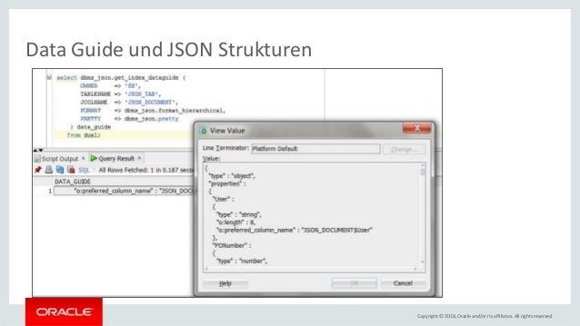 Json In Der Oracle Datenbank
