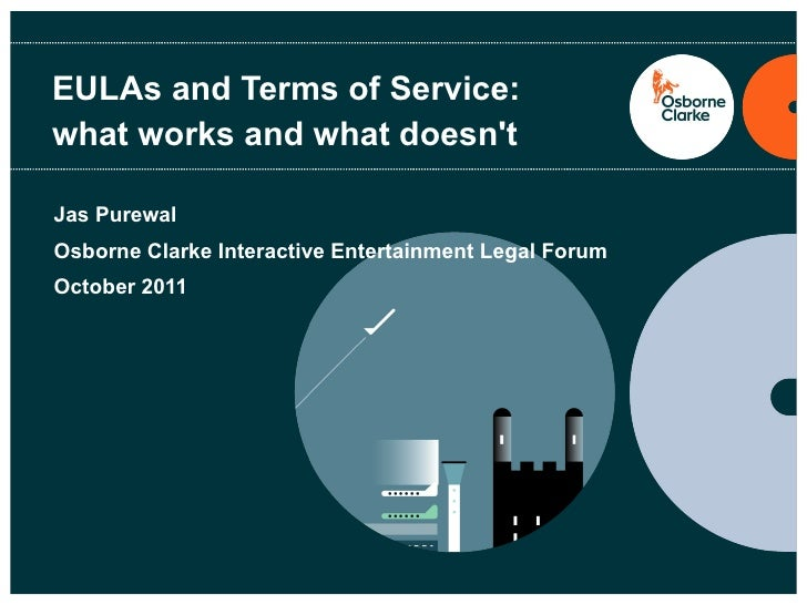 EULAs and Terms of Service: what works and what doesn't