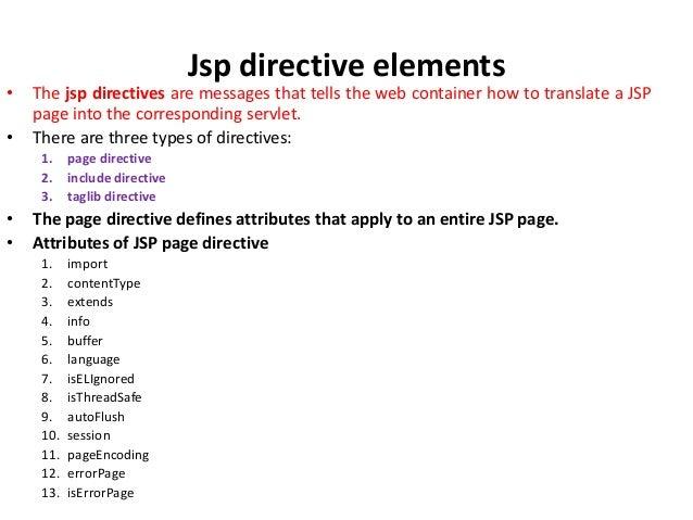 Jsp elements Slide 3