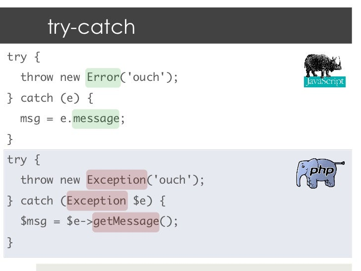 php throw new exception