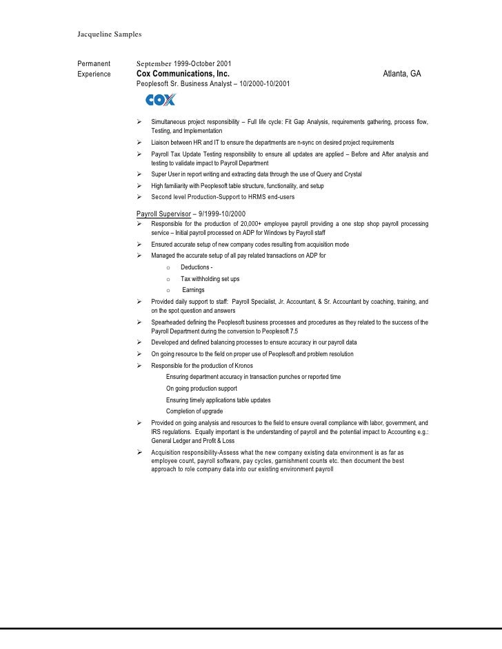 peoplesoft resume samples april onthemarch co