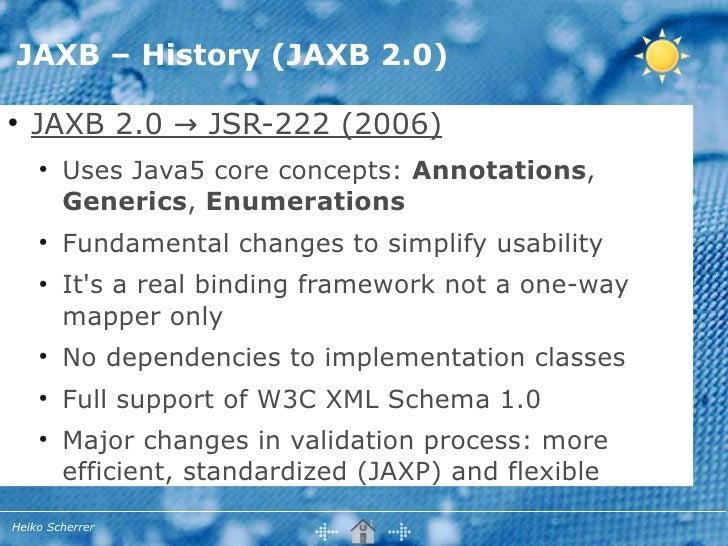 JSR-222 Java Architecture for XML Binding