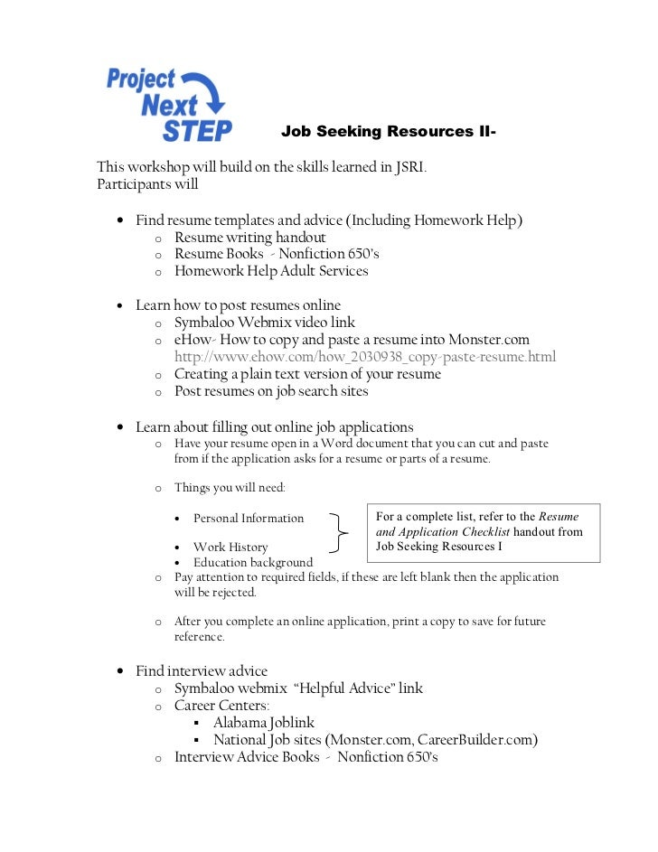 how to copy and paste resume