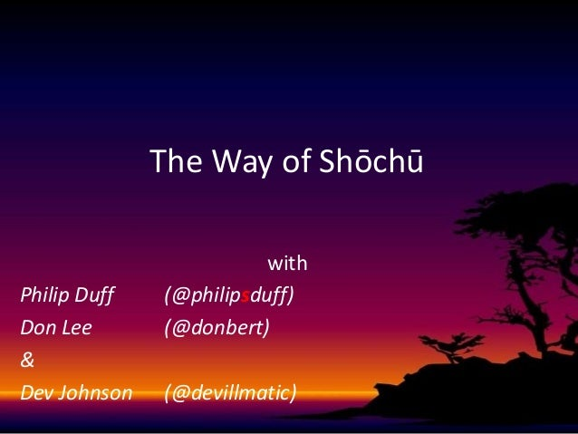 The Way of Shōchū with Philip Duff (@philipsduff) Don Lee (@donbert) & Dev Johnson (@devillmatic)