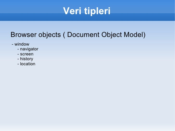 Kullanım alanları <ul><li>Web : Markup ile 'etkileşim'i sağlamak