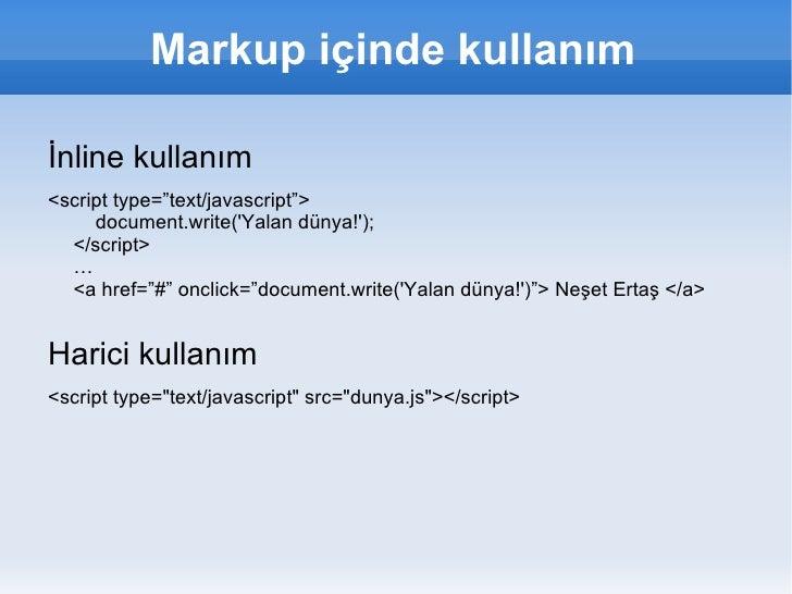 ECMAScript </li></ul>