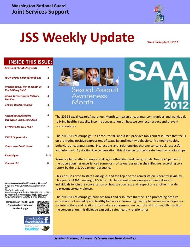 Washington National Guard           Joint Services Support                     JSS Weekly Update                ...