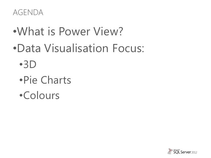 Power View from the Data Visualisation Perspective Slide 2