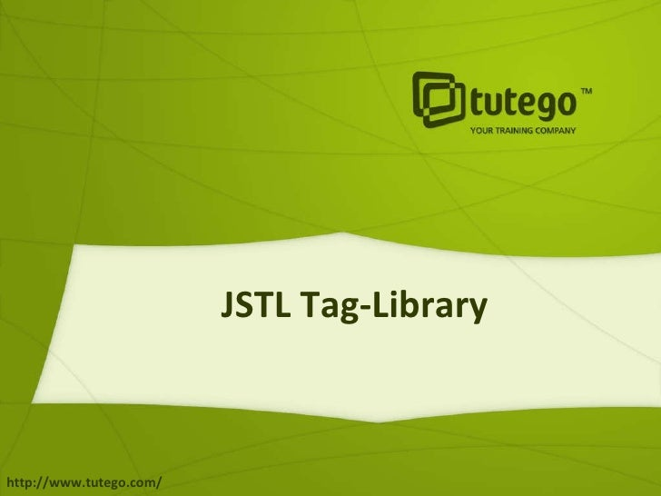 JSTL Tag-Library