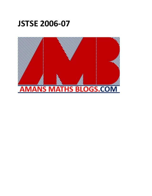 JSTSE 2006-07