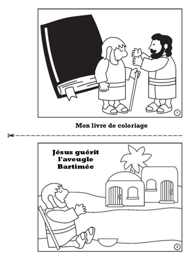 Jesus Guerit L Aveugle Bartimee Livre De Coloriage