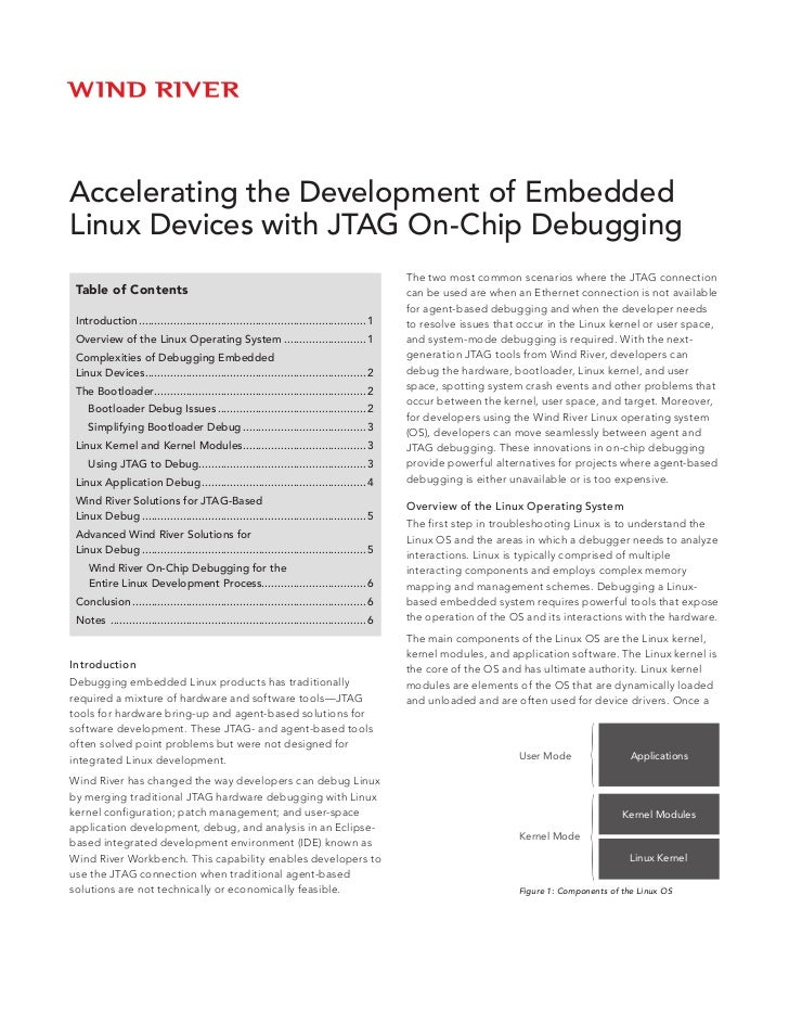 Accelerating the Development of EmbeddedLinux Devices with JTAG On-Chip Debugging                                         ...