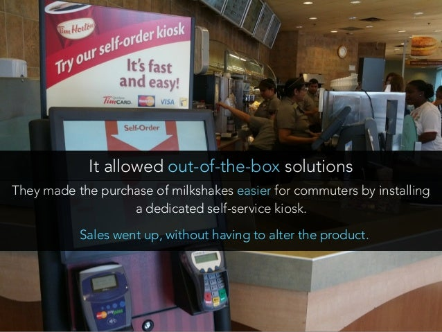 They made the purchase of milkshakes easier for commuters by installing a dedicated self-service kiosk. It allowed out-of-...